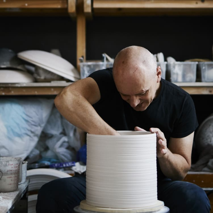 """""""I just love making, and anything that pulls me back into the computer world is not attractive to me any more,"""" says potter Colin Hopkins."""