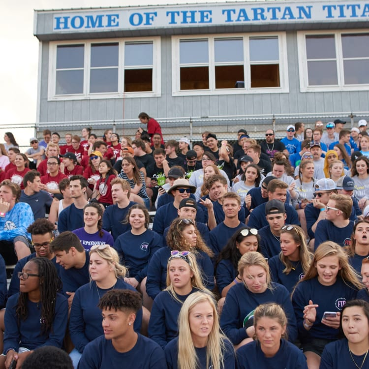 'Around here you flip a coin, maybe you'll get cancer or you won't': Tartan High School students gather at a Relay for Life cancer fundraiser.