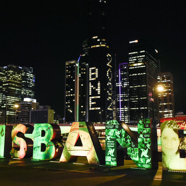 Brisbane on the night of the announcement.