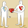 Gift giving an exception to one of human nature's rules