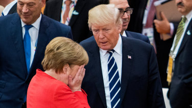 German Chancellor Angela Merkel with US President Donald Trump last year.