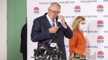NSW Health Minister Brad Hazzard and Chief Health Officer Dr Kerry Chant on Sunday.