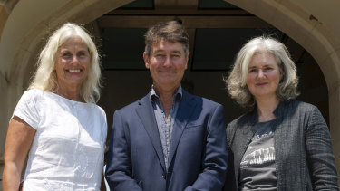 Dr Anna Stavdal, president-elect of the World Organisation of Family Doctors, Assistant Professor Ray Moynihan and Dr Fiona Godlee, editor in chief of The BMJ, in Sydney before the campaign launch.