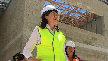 Queensland Premier Annastacia Palaszczuk in Cairns on Friday