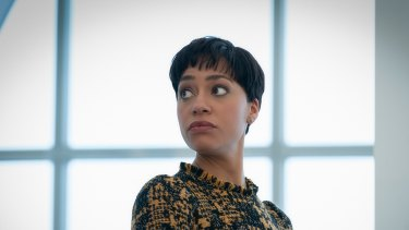 Cush Jumbo as lawyer Lucca Quinn in The Good Fight.