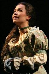 Lea Salonga as Fantine in Les Miserables in New York, 2006.