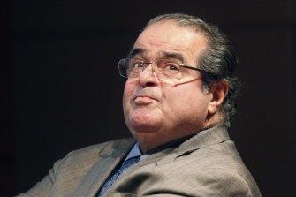 US Supreme Court justice Antonin Scalia.