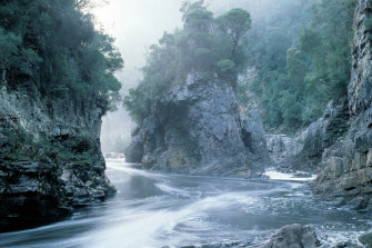 "Rock Island Bend"", Franklin River, Tasmania Photo by Peter Dombrovskis"