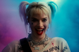 As Harley Quinn in Birds of Prey, a film she produced and originated.