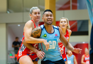 The NSW Swifts played a pre-season game against the NSW men's side in March.