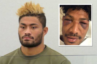 Amanaki Mafi has avoided conviction following a fight with former teammate Lopeti Timani, inset, last year.