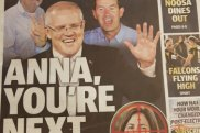 Part of the Sunshine Coast Daily's front page.