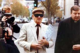 Pell accompanies paedophile priest Gerald Ridsdale to court in 1993.