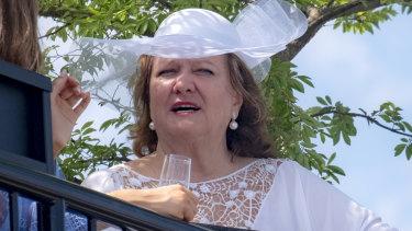 Australian mining magnate Gina Rinehart at the Lexus marquee.