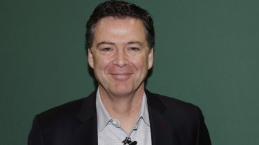 Former FBI director James Comey promotes his book in New York on Wednesday.