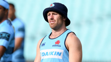 Bernard Foley during a Waratahs training session during the recent season.