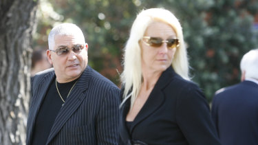 Mick Gatto and Nicola Gobbo at the funeral of Labor stalwart Stephen Drazetic in 2008.