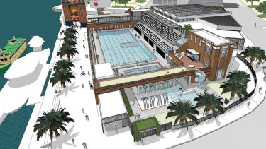Artists impressions of the North Sydney Pool redevelopment.