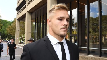 Landmark decision: A file photo of Dragons star Jack de Belin, who lost his Federal Court case on Friday.