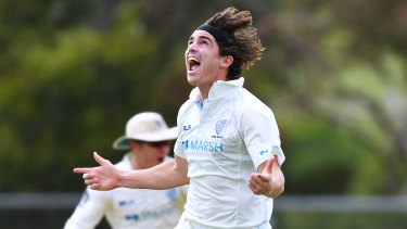 Sean Abbott enjoys success on a flat pitch in round one of the Sheffield Shield in Adelaide.