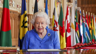 The Queen delivers her Commonwealth Day message from Windsor Castle.