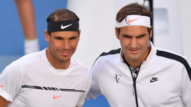 Committed to the cause: Rafael Nadal and Roger Federer have confirmed they will take part in a match to raise funds for Australia's bushfire relief effort.