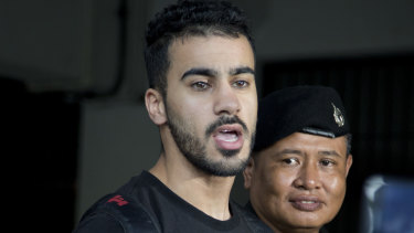 Detained: Melbourne football player Hakeem Al-Araibi, a Bahraini refugee, has been held in Thailand for months.