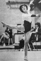 A teenage Alison Wright (now Alison Quigley) in her gymnastics days in the 1980s.