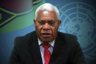Vanuatu Prime Minister Bob Loughman announced a domestic travel ban on Sunday.