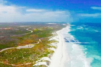 Photo taken from directly in front of Lancelin South townsite, about 1.1 kilometres from the proposed plant site.