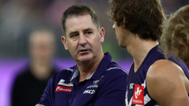 Ross Lyon is keen to continue at Fremantle beyond 2020 and says the wheel is turning at the club.