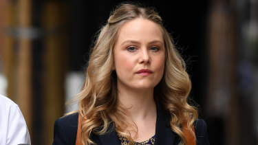 Actor Eryn Jean Norvill arrives at the Federal Court in Sydney last Friday.
