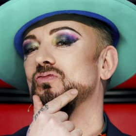 Boy George tells Sam Perry to go back to bag of tricks