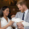 Proud Harry and Meghan show off Baby Sussex and reveal his name