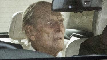 Prince Philip left London's King Edward VII hospital on Tuesday.