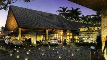 The proposed Dusit Thani Brookwater Golf and Spa Resort, as published in promotional material.