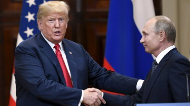 US President Donald Trump and Russian President Vladimir Putin addressed the press after a two-hour meeting.