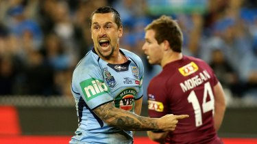 Mitchell Pearce in action in game two at the MCG.