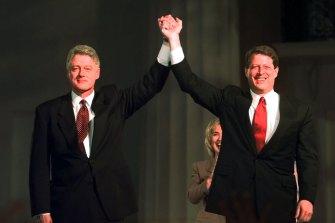 Bill Clinton and Al Gore in 1996.