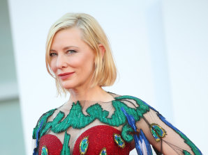 Work of art: Cate Blanchett in Venice last year.