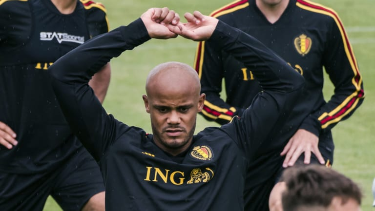 Concerns: Belgian star Vincent Kompany believes there has long been too much secrecy in the football industry.