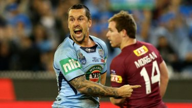 Back in blue: Mitchell Pearce is likely to get a recall for NSW for game two of the series.