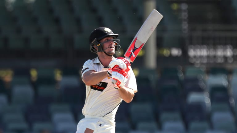 Form: File photo of Mitch Marsh, who smashed an unbeaten ton for Australia A in India.