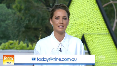 Brooke Boney on Nine's Today show.