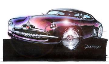 Richard Ferlazzo,Efijy concept car exterior, 2005;marker, pastel, pencil, gouache on vellum film.