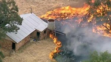 The Strathallan grass fire.