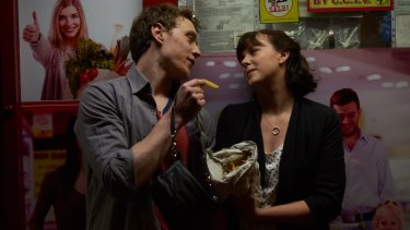Ryan (George MacKay) and Laura (Alexandra Roach) first meet on a drunken night out in A Guide to Second Date Sex.