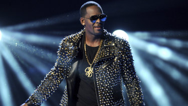 R. Kelly performing at the BET Awards in Los Angeles in 2013.