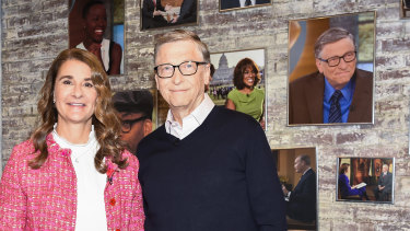 Bill and Melinda Gates in the CBS Toyota Greenroom before an appearance on air in 2019.