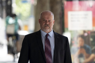 Phillip Elliot arriving at ICAC for the inquiry into former MP Daryl Maguire.